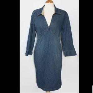 Motherhood Materniry Denim dress size large